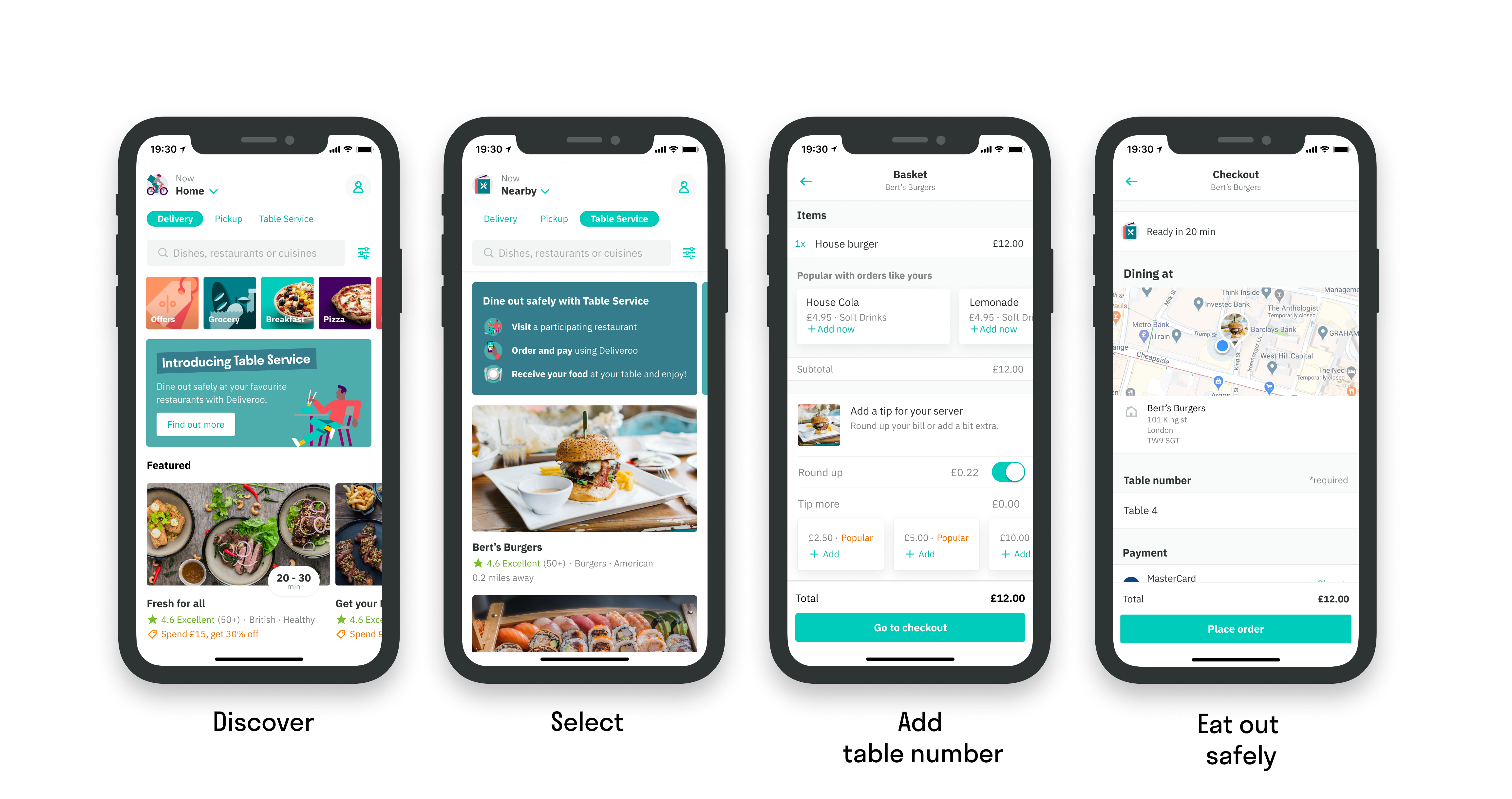 How Deliveroo's Table Service works