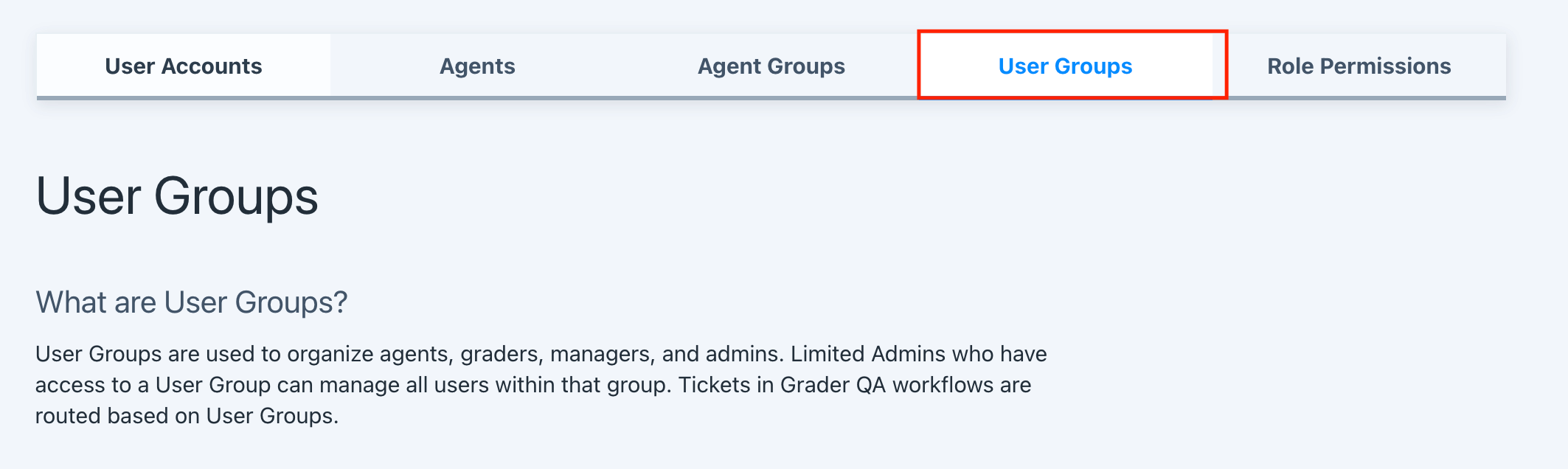 manage user groups