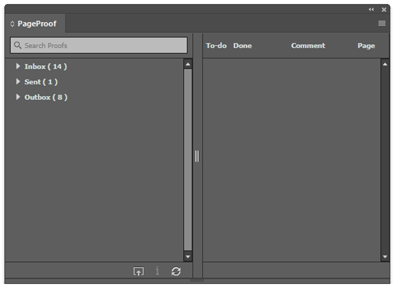 PageProof Adobe CC panel