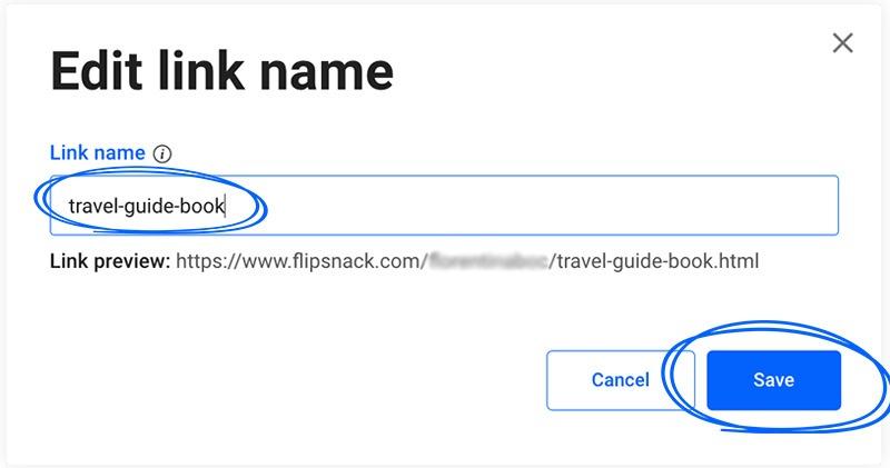 edited link name