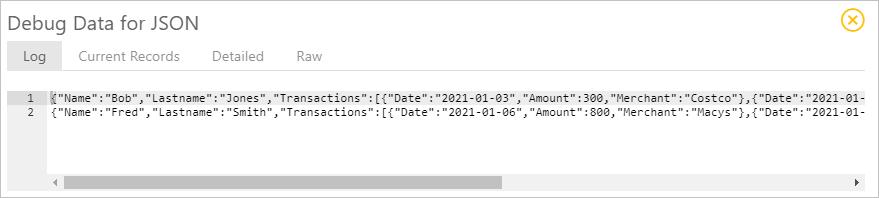 Synatic - Split step JSON source data