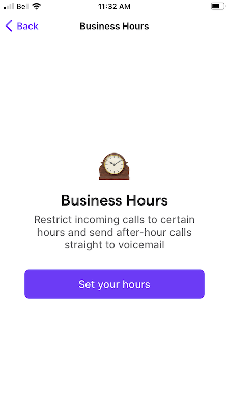 set business hours in OpenPhone