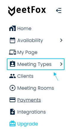 Meeting Types in MeetFox