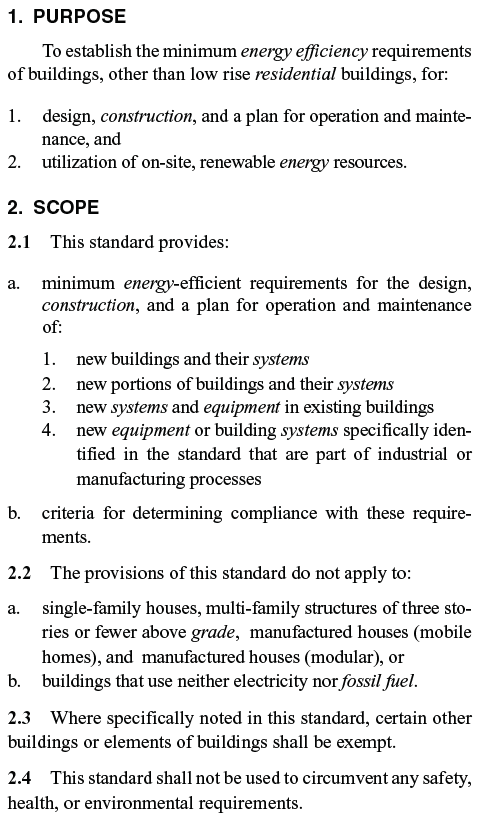 Except from ASHRAE 90.1-2010
