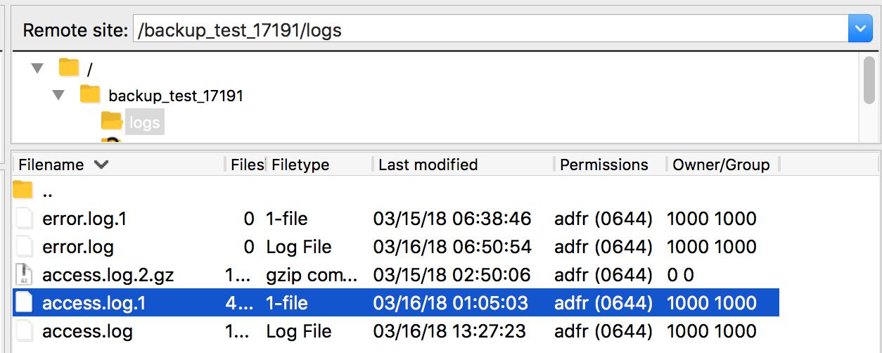 Datenschutz zu Serverlogs - FTP Ordner zu Logs