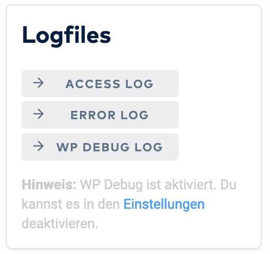 Datenschutz zu Serverlogs - Abrufen Livelogs