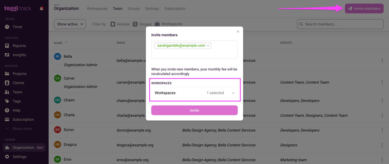 Invite Organization Users