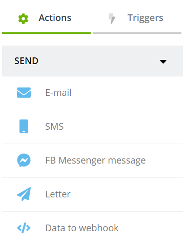 action sending