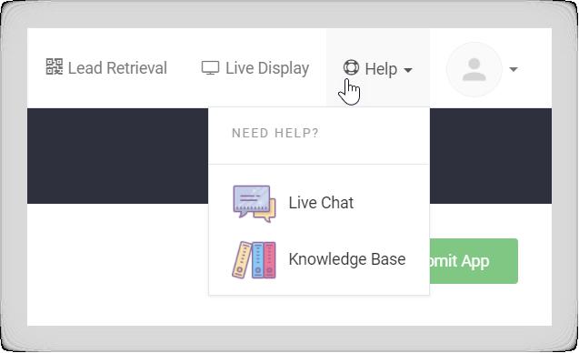 Screenshot of the help menu in the Socio Platform.