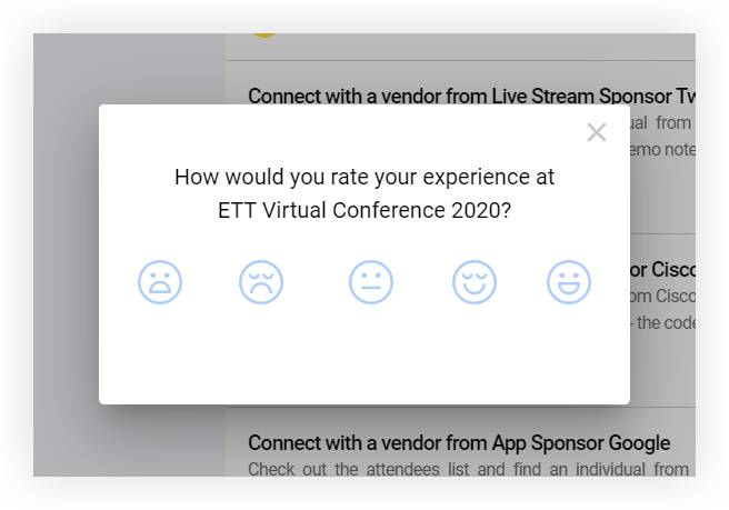 Screenshot of the Insights pop-up.