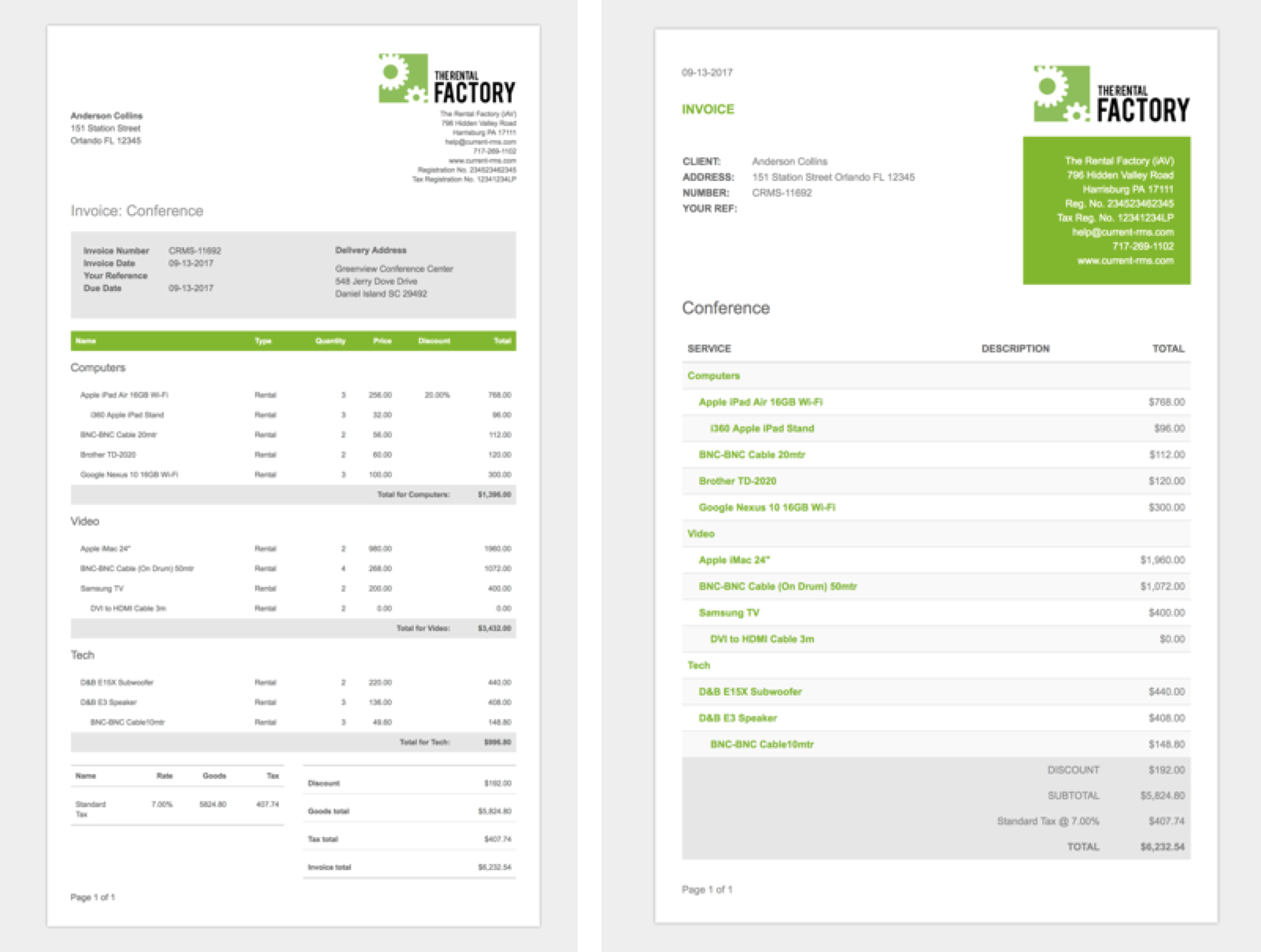Print Download Or Send An Invoice Or Credit Current RMS Guides - Invoice delivery system