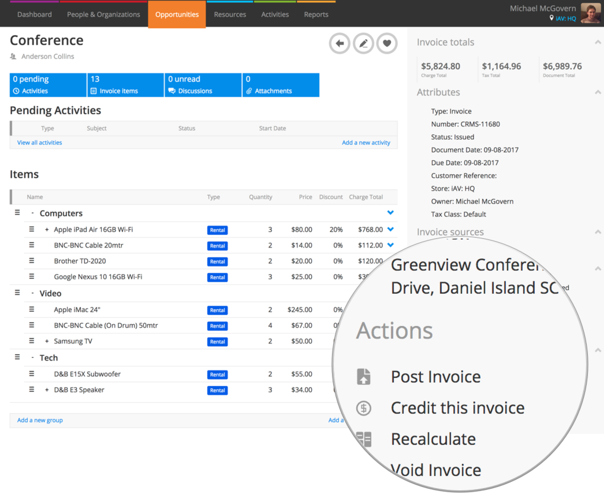 Post An Invoice Or Credit To Xero Or QuickBooks Online Current RMS - Issue invoice