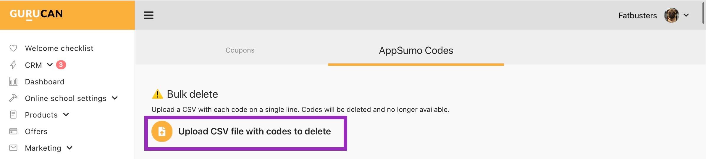 AppSumo codes delete