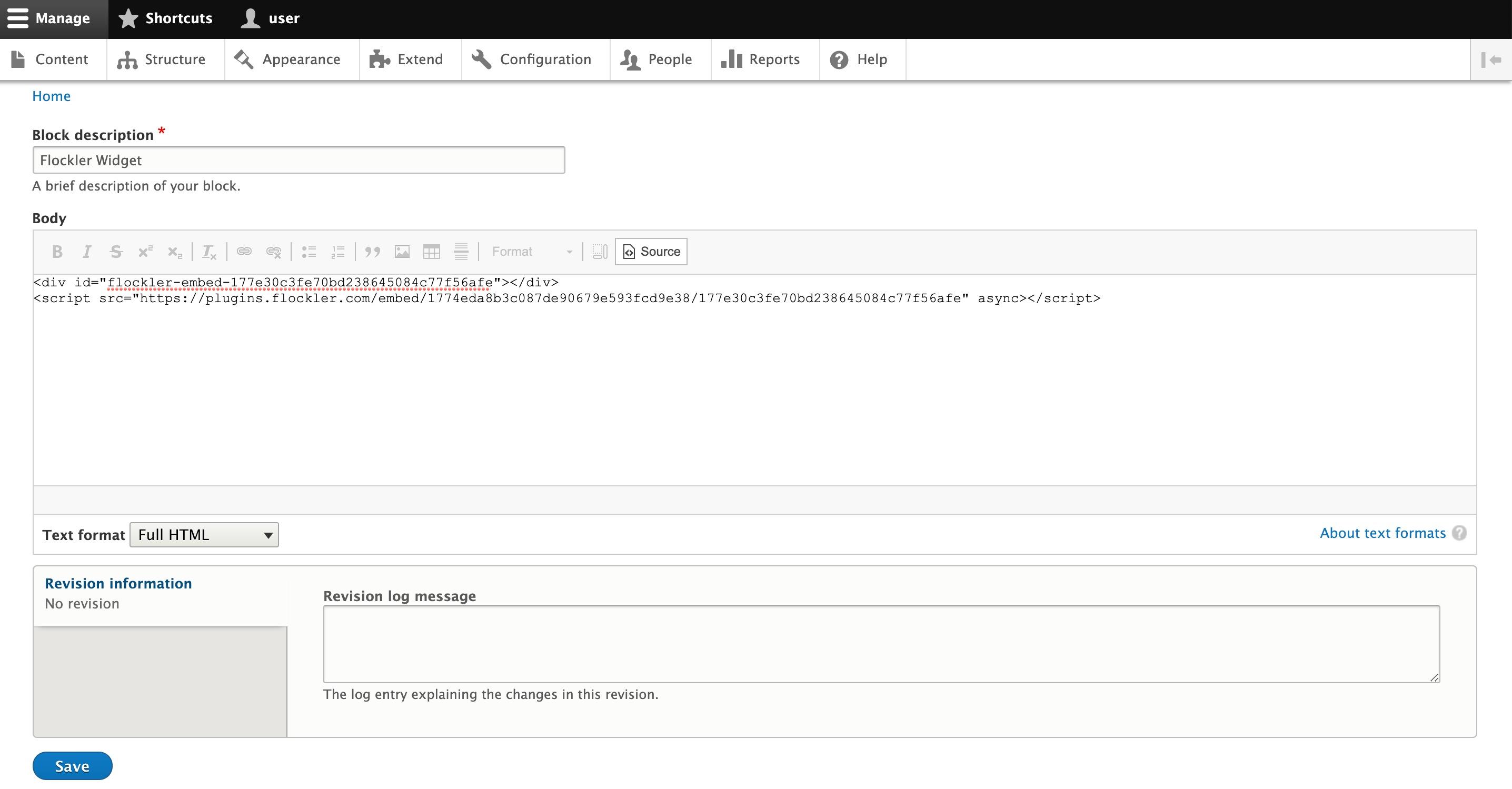 Creating a custom block in Drupal