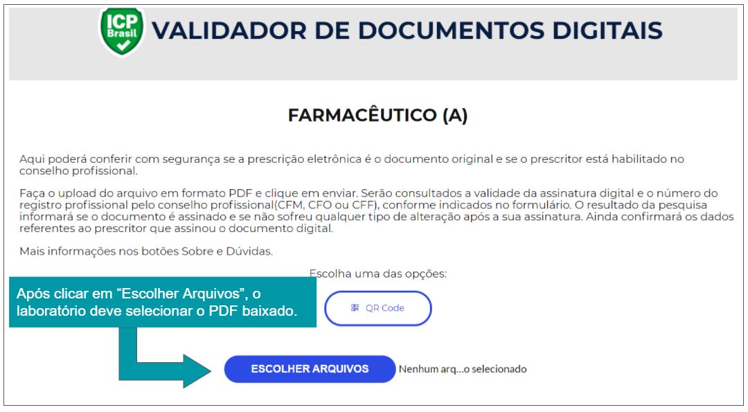 Ilustração com a informação do validador ITI.