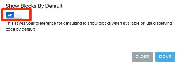 Change default settings preference using check mark