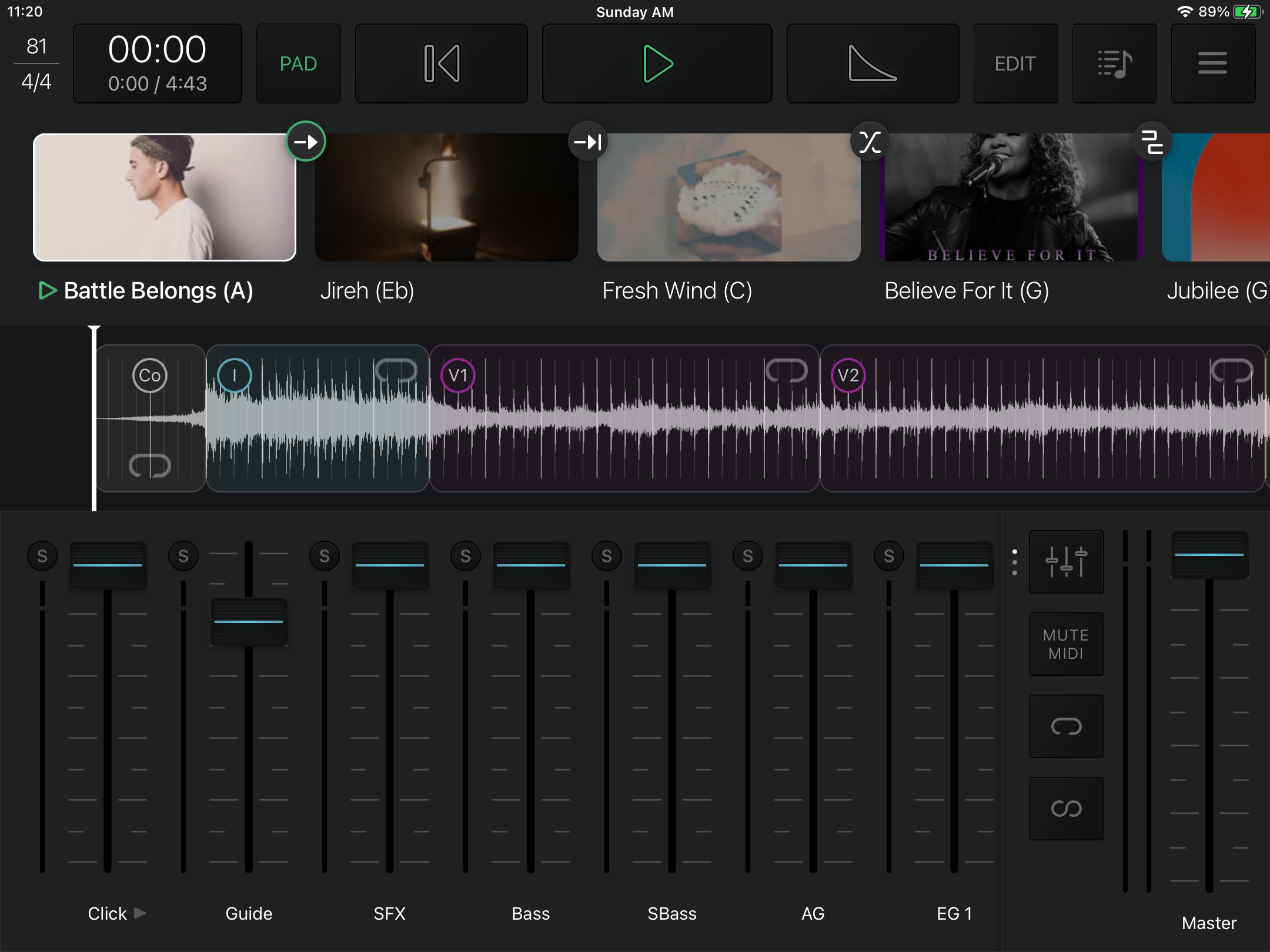 Home Screen of Playback