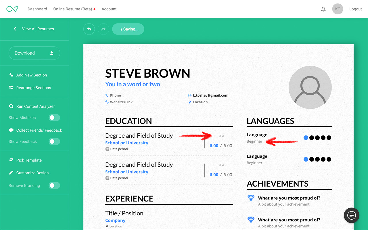 how to create your resume in another language enhancv help center