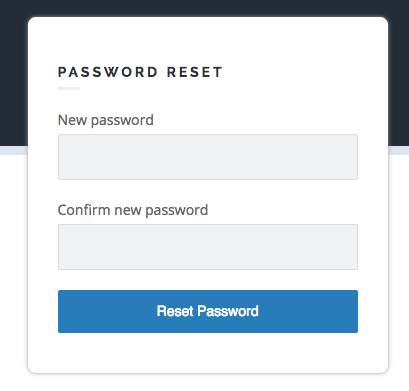 new password dialogue box