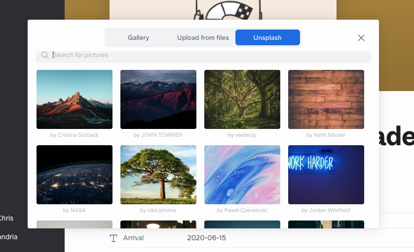 Or you can use and search the Unsplash gallery, instead!