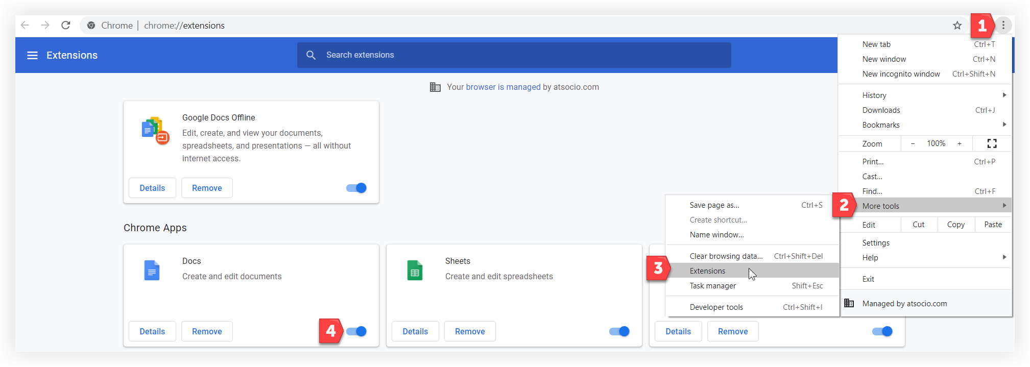 Screenshot showing the process just described.