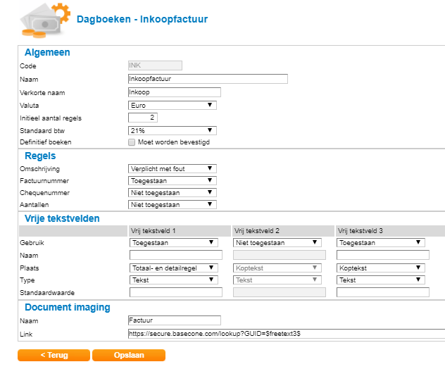 Facturen opvragen vanuit Twinfield | Basecone Support Knowledge Base