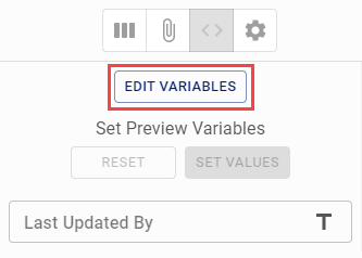 Edit existing Data Prep Runtime Variables