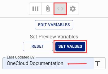 Set preview value