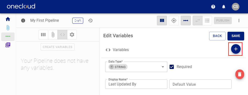 Add additional Data Prep Runtime Variables