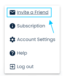 To get your MeetFox referral link, click on 'Invite a Friend'