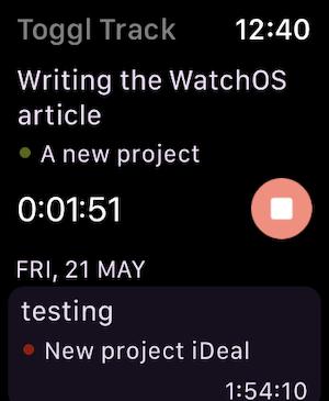 Apple Watch Timer Screen