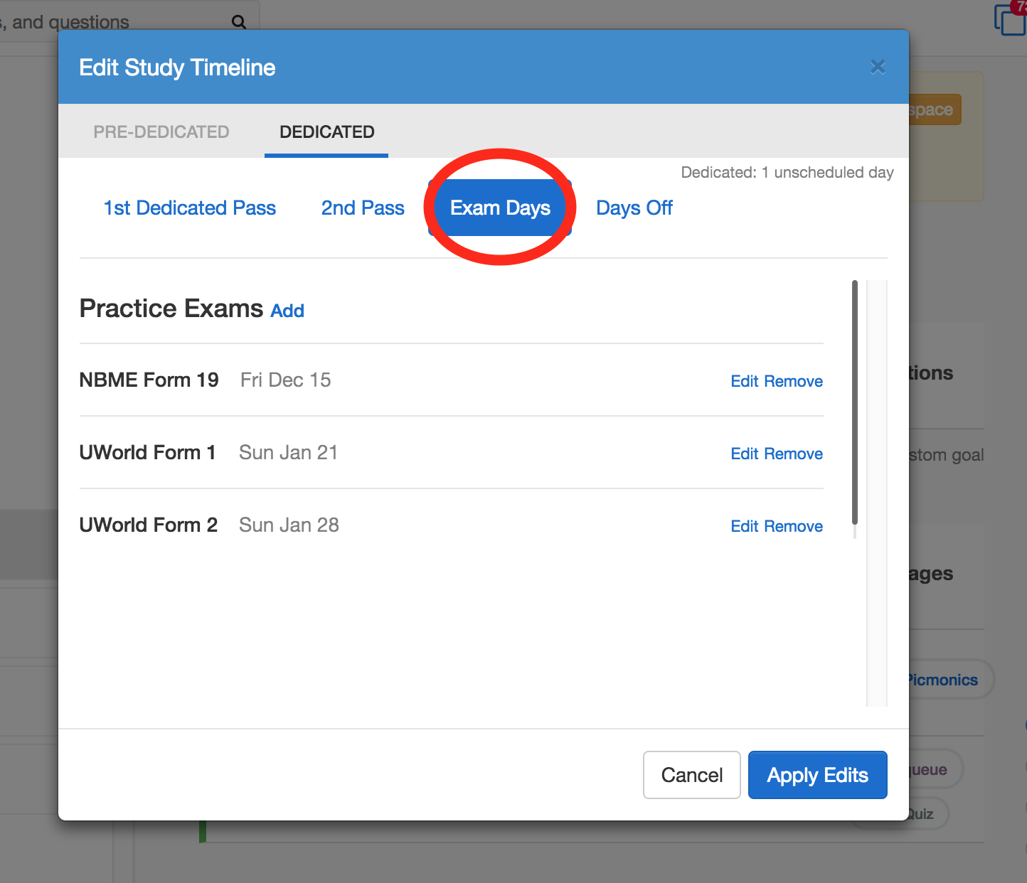 How many passes does the Step 1 Schedule make? | Osmosis Help Center