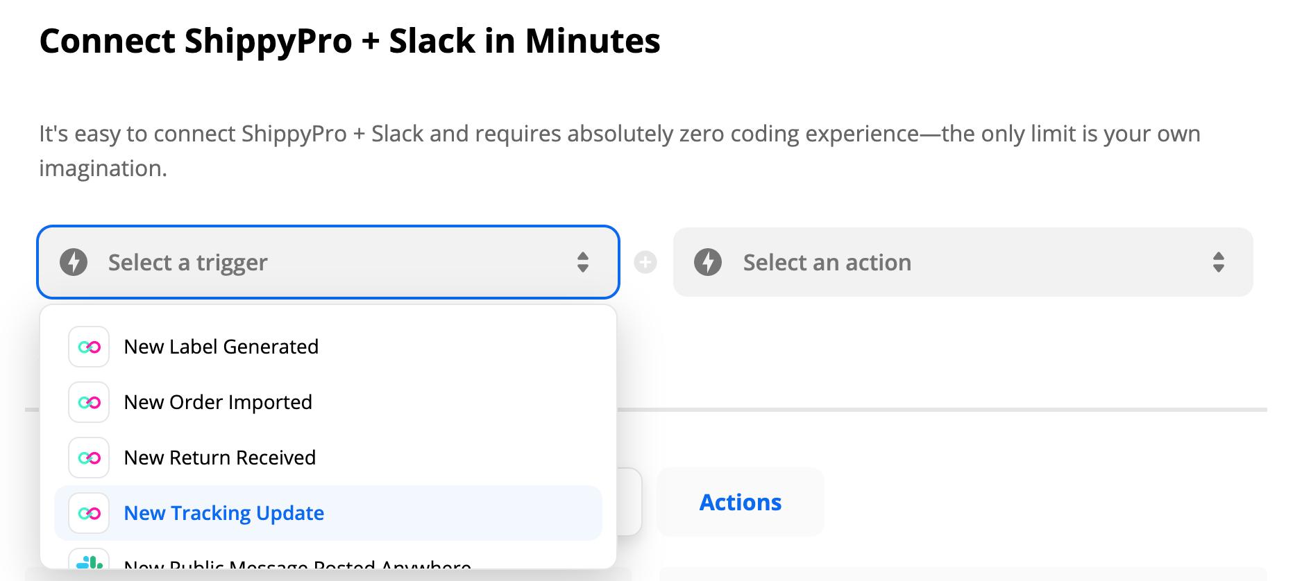 How to connect ShippyPro and Slack via Zapier