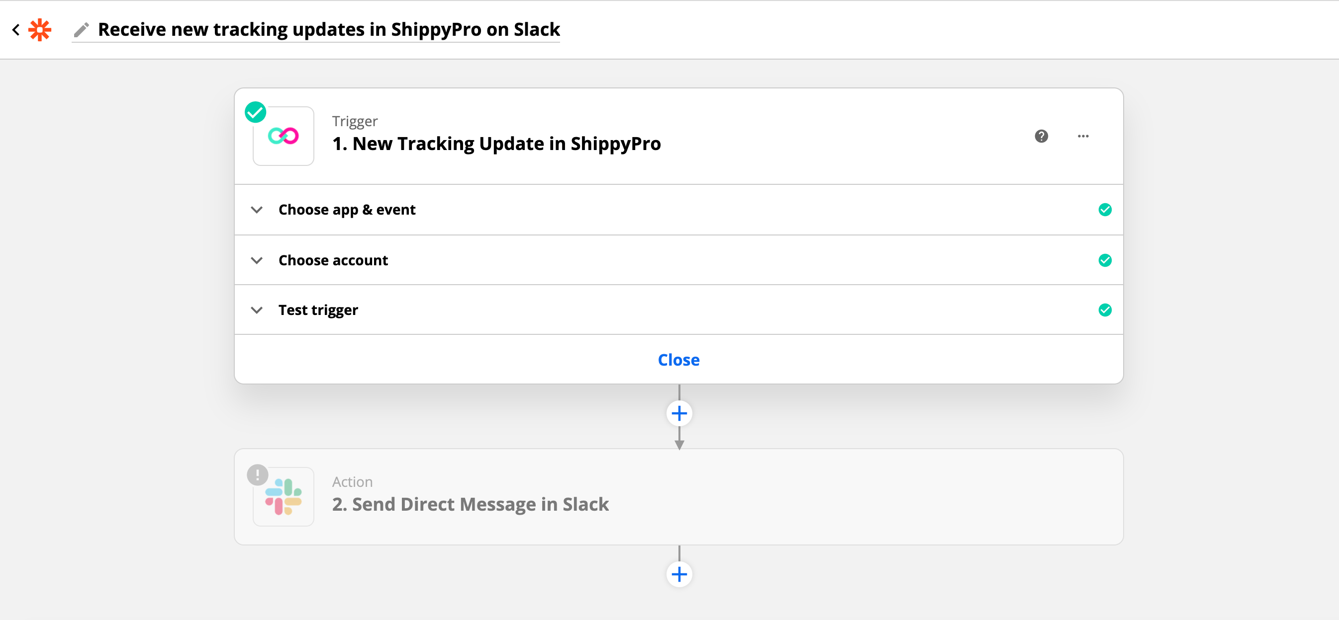 How to receive ShippyPro tracking updates in Slack