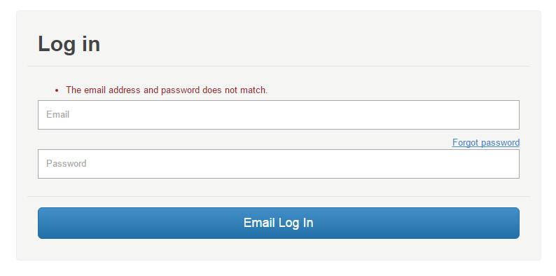 Match forgot password
