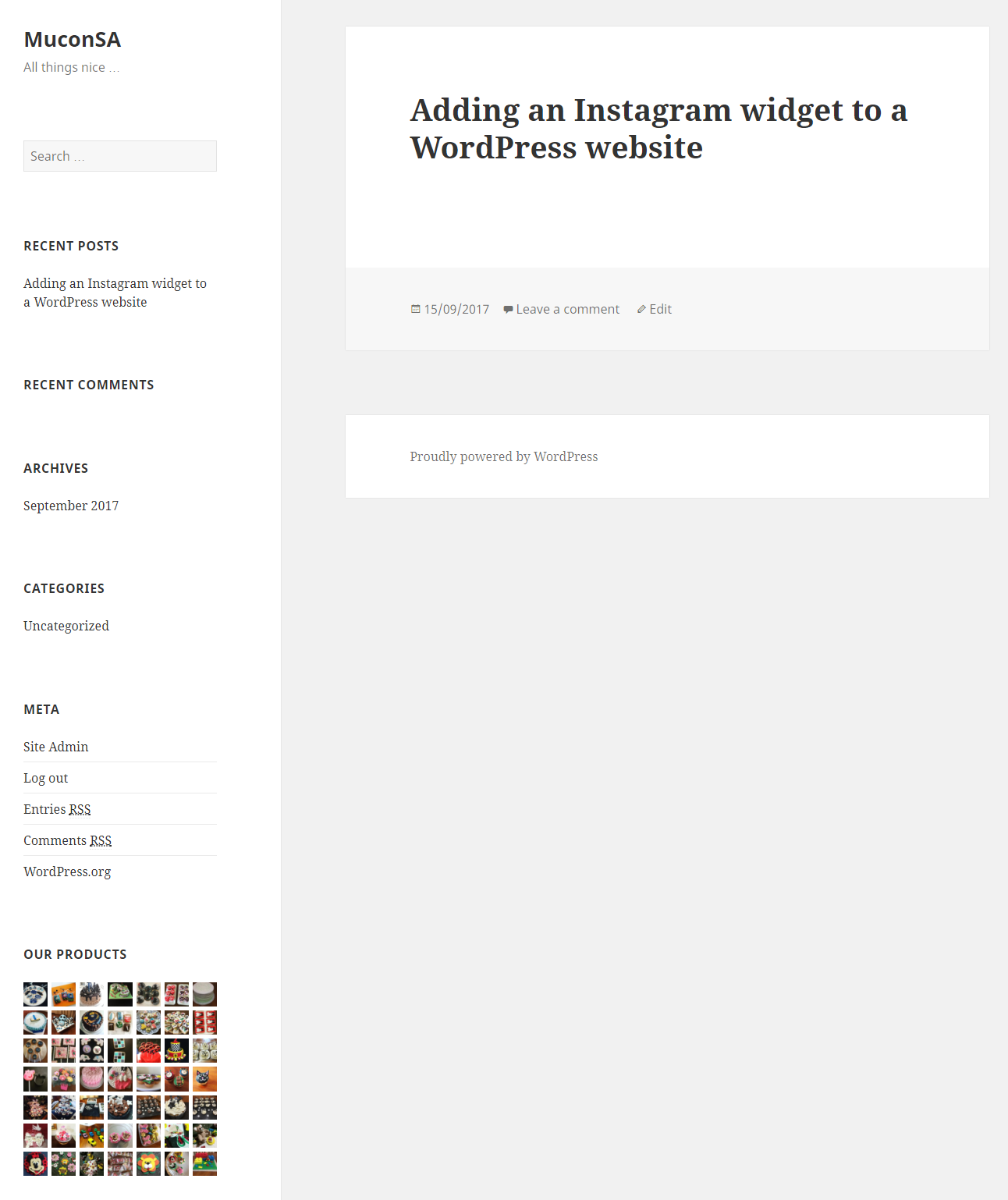 How do i add an instagram widget to my wordpress website you can move the widget to another slot in the sidebar by using the re order option eg move it to the top just above the search option ccuart Choice Image