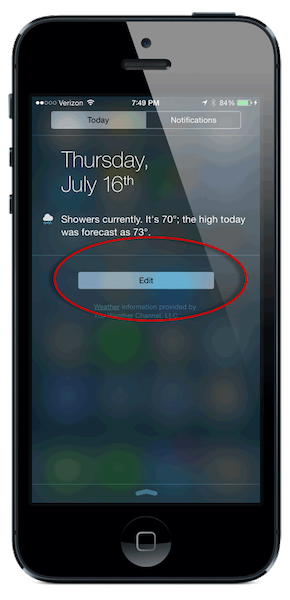 Edit the Today Widget to add GQueues
