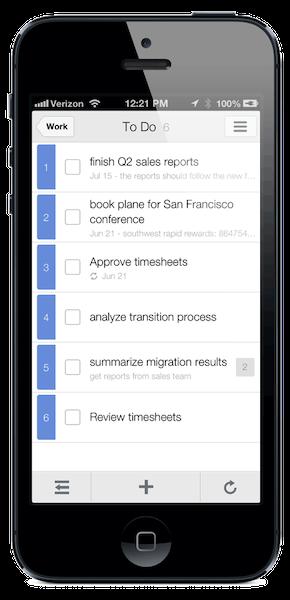 Task display density after adjusting in the app settings
