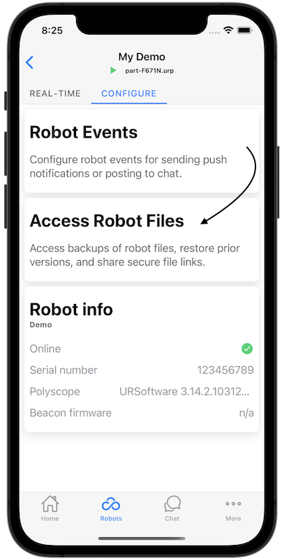 robot access files