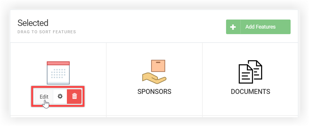 Screenshot showing a user hovering their mouse over the Edit button of the Agenda feature.