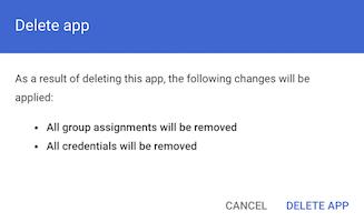 Confirm app deletion