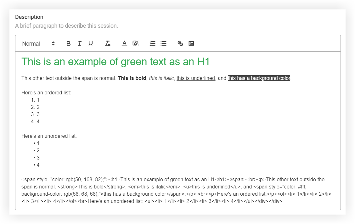 Screenshot of the example just mentioned.