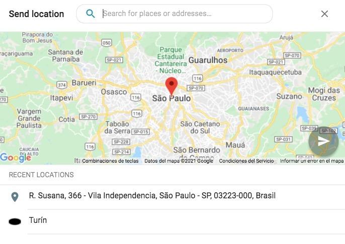 send location sirena