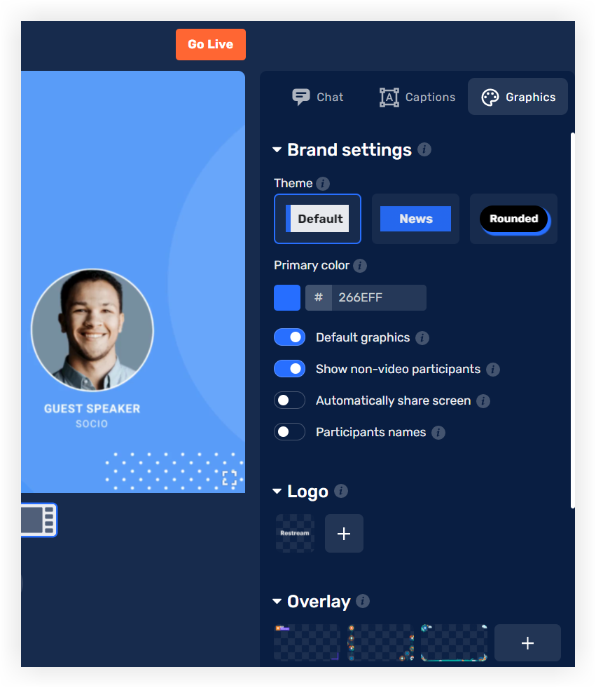 Screenshot of the Grahics tab.