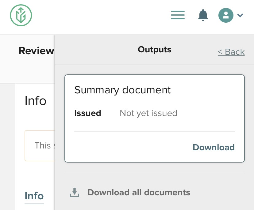 Mobile Summary document page