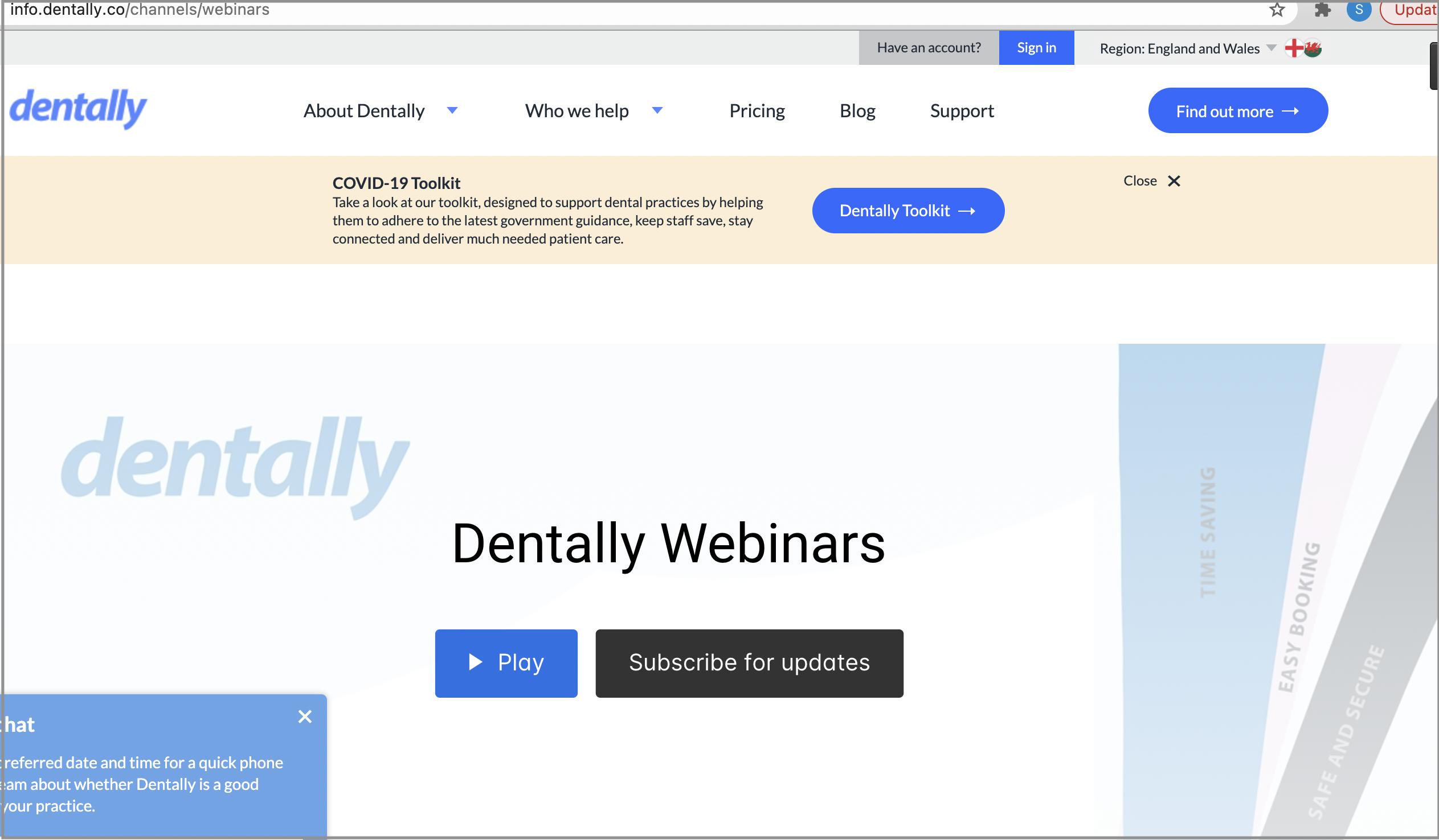 webinars in dentally
