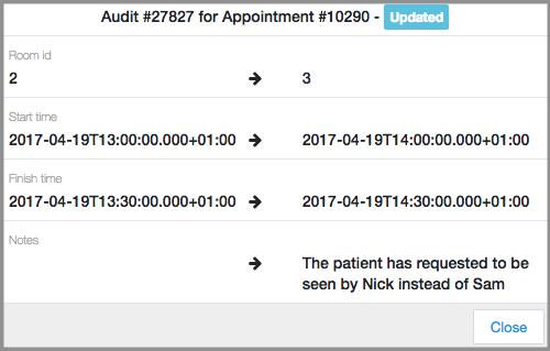 audit example in dentally