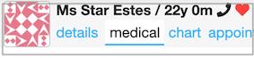 medical history alert on