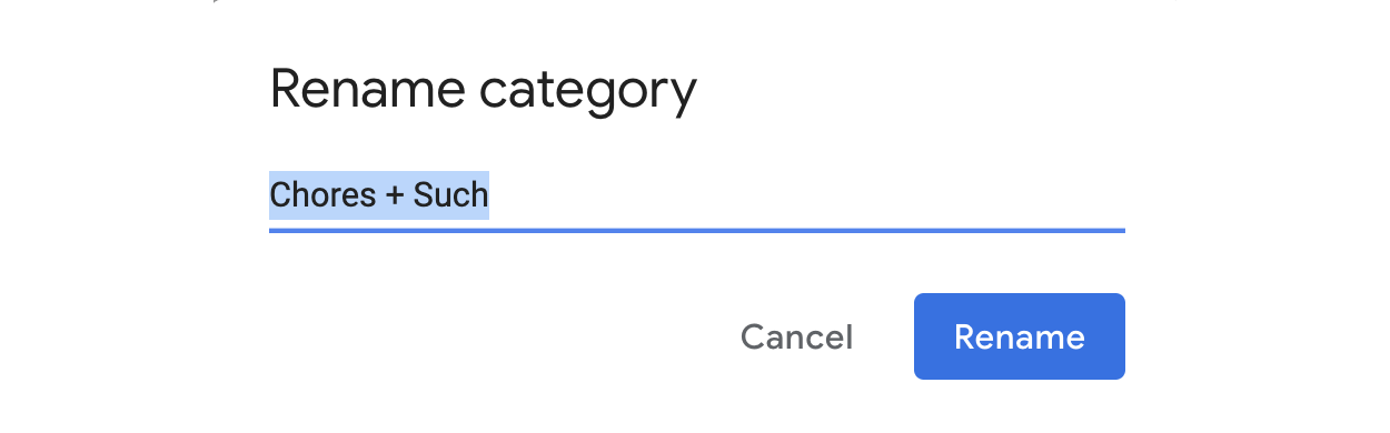 Rename your category.