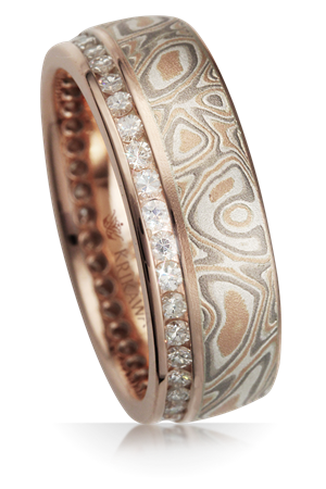 set band and jewelry copper white by rings gold eternity products gane mokume bands silver wedding diamond